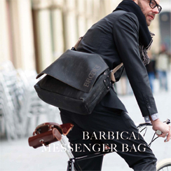 barbican leather shoulder bag